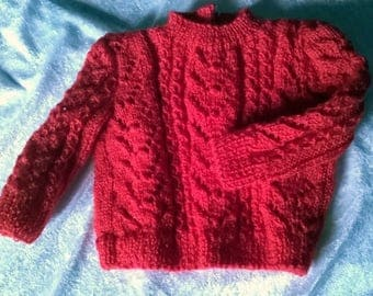 Red Sweater is hand - knits-lili