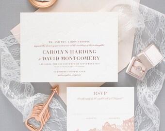 Lace wedding invites Etsy