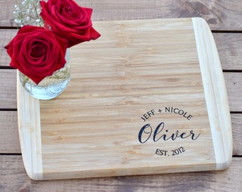 Personalized Cutting Board - Wedding Gift Cutting Board - Engraved Cutting Board - Anniversary Cutting Board - Housewarming Gift - Engraved