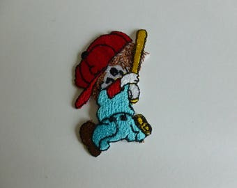 Baseball boy embroidered patch