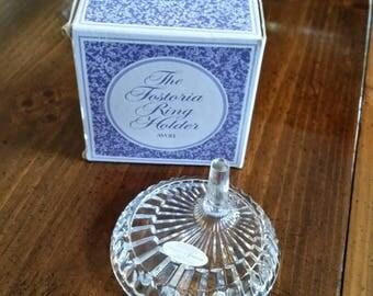 Fostoria Ring Holder Soap Dish Combination, American, Original Label and Box. Avon 1980, Gift Idea