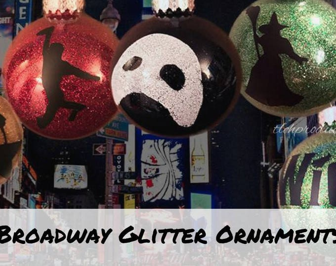 Broadway Glitter Ball Ornaments