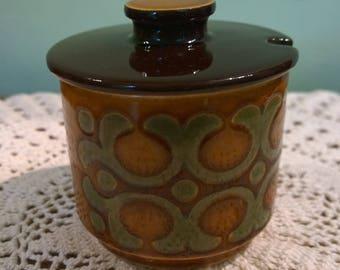 Hornsea Bronte preserve pot lidded retro vintage