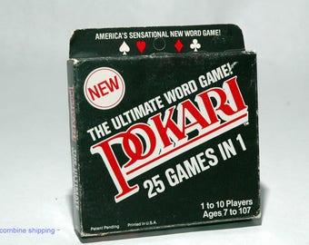 Pokari Word Card Game fromWarren Paper 1979 BRAND NEW