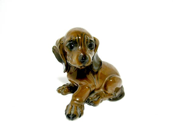 Dachshund Puppy Figurine, Rosenthal of Germany, Hand Painted, Dachshund Puppy Statue