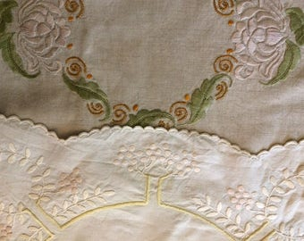 Set of Two Arts & Crafts Embroideries