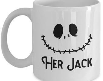 Her Jack Skellington Gift Mug Coffee Cup Halloween Nightmare Before Christmas Scary