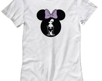 Disney Minnie Mouse Haunted Mansion Shirt for Women Gift Stretching Tightrope Disneyland Fan