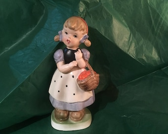Little china girl with basket