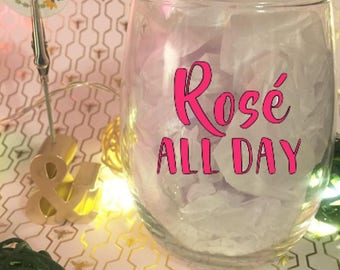 Rose All Day 15 oz Stemless Wine Glass