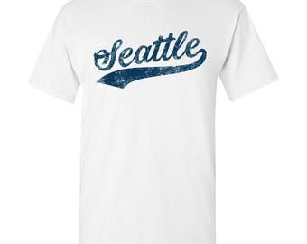 Seattle City Script T-Shirt - White