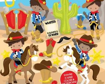 80% OFF SALE Cowboy clipart commercial use, unicorn vector graphics, rainbow digital clip art, digital images, wild west - CL802