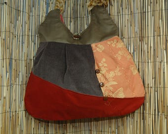 Fabric Patchwork Collection Lucille shoulder tote bag