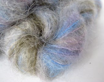 Luxury  Multicolour Mohair, Gray, Olive, Pink, Blue