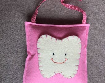 tooth fairy felt Fuchsia bearing