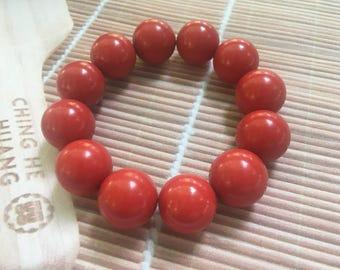 Cinnabar beads bracelet,zinnober,vermilion,composite beads bracelet,beaded bracelet,red bracelet, handmade jewelry FJ0008