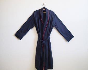 Ralph Lauren Black Robe - Small Medium - Soft 100% Cotton Robe