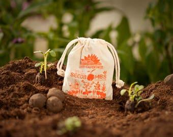 """Seed Bombs """"Italian Garden"""", 10 walnut sized & handmade seed balls"""