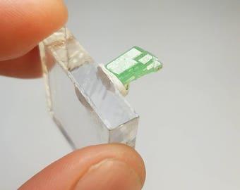 Elongated Tsavorite Garnet Crystal New Find Tanzania GG1049