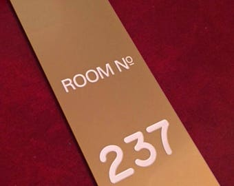 SPECIAL LIMITED EDITION: Gold Room 237 - The Overlook Hotel Key Fob - Inspired by The Shining