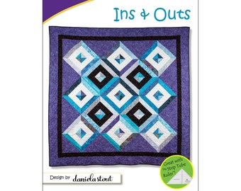 "Pattern ""Ins and Outs"" by Cozy Quilt Designs #1172 Paper Pattern"