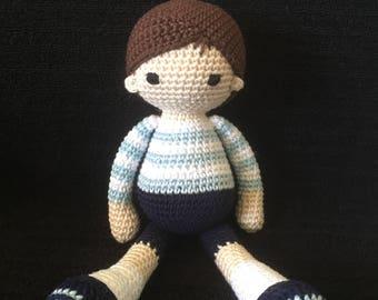 Little Boy Blue Crochet Doll
