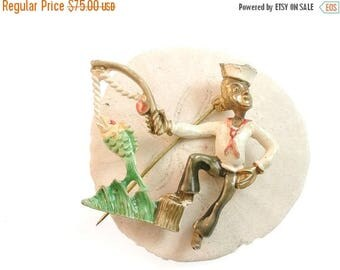 Summer Sale Gorgeous Sailor Brooch or Pin