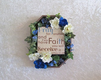 RESERVED FOR LindaS ONLY, Floral Wall Plaque with Inspirational Saying/Prayer, Home Decor, Wall Decor