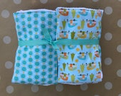 baby burp cloths - set of six {campers}