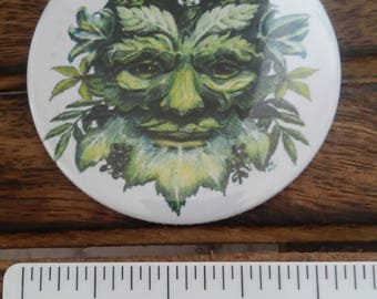 green man spirit of the forest theme handbag mirrors handmade ltd editions choice of design