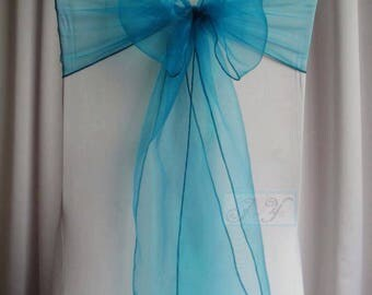 25x Teal Blue Chair Sashes Bow Cover for Wedding Engagement Anniversary Birthday Event Party Reception Ceremony Bouquet