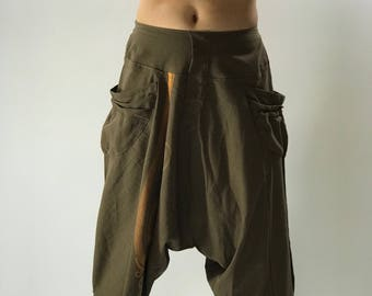 HC0185 Aladdin Baggy Thai cotton pants with elastic waist