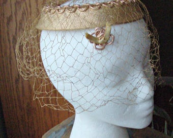 Vintage Ladies Ring Hat w/Birdcage Netting Veil