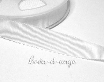 16mm wide white grosgrain Ribbon sold by 10cm
