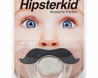 FCTRY Hipsterkid Mustache Pacifier in Black