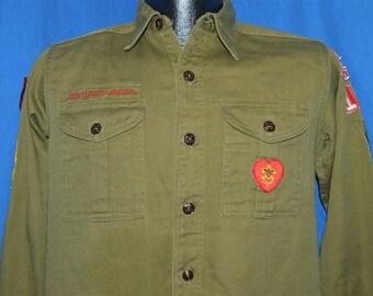 50s Boy Scouts of America Herriman Utah Uniform Shirt Small