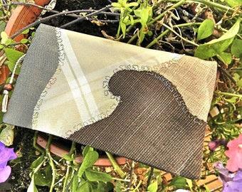 Checkbook silk high - heel