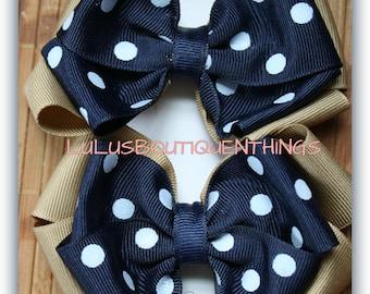 School Uniform polka dot bows