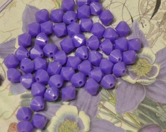 8mm Vintage Purple Bicone beads new old stock vintage Japan DIY Jewelry Making Altered Art