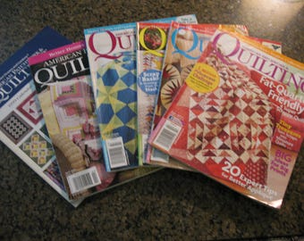 American Patchwork and Quilting Magazines Lot of 6