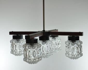 5 Light Mid Century Light, Ceiling Light, Pendant Light, Mid Century Modern, Pendant Lighting, Mid Century Lighting, Pendant Lamp