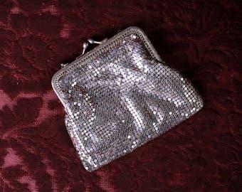 Silver mesh purse