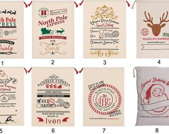 Personalized Santa Sack Christmas Bag - Santa Sacks with 21 Patterns Designs