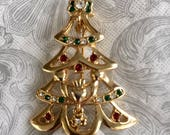 Vintage Solvar Christmas Tree Pin - Vintage Pin - Christmas Pin - Collectible Pin