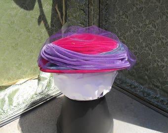 Vintage Velvet Pill Box Hat