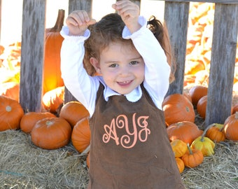 Girls Thanksgiving Dress, monogrammed thanksgiving dress, corduroy jumper, personalized Corduroy dress, Girls Fall Orange Pumpkin dress