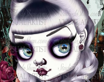 """Bad Alice from the series """"Bad Princesses"""" 11x14"""" Art Print by deShan"""