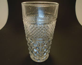 3 Anchor Hocking Wexford Pressed Glasses Water Tumblers Clear