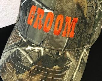 Camo Groom Hat
