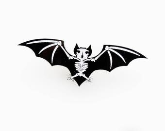 Bat skeleton brooch